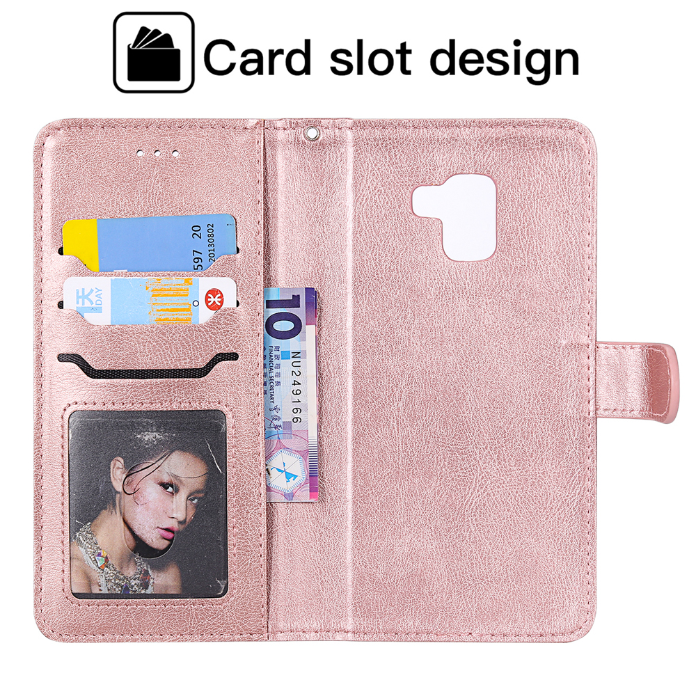 Cover for Samsung Galaxy A8 2018 Leather Mobile Phone case Kickstand Card Holders Luxury Business with Free Waterproof-Bag Blue3 Samsung Galaxy A8 2018 Flip Case