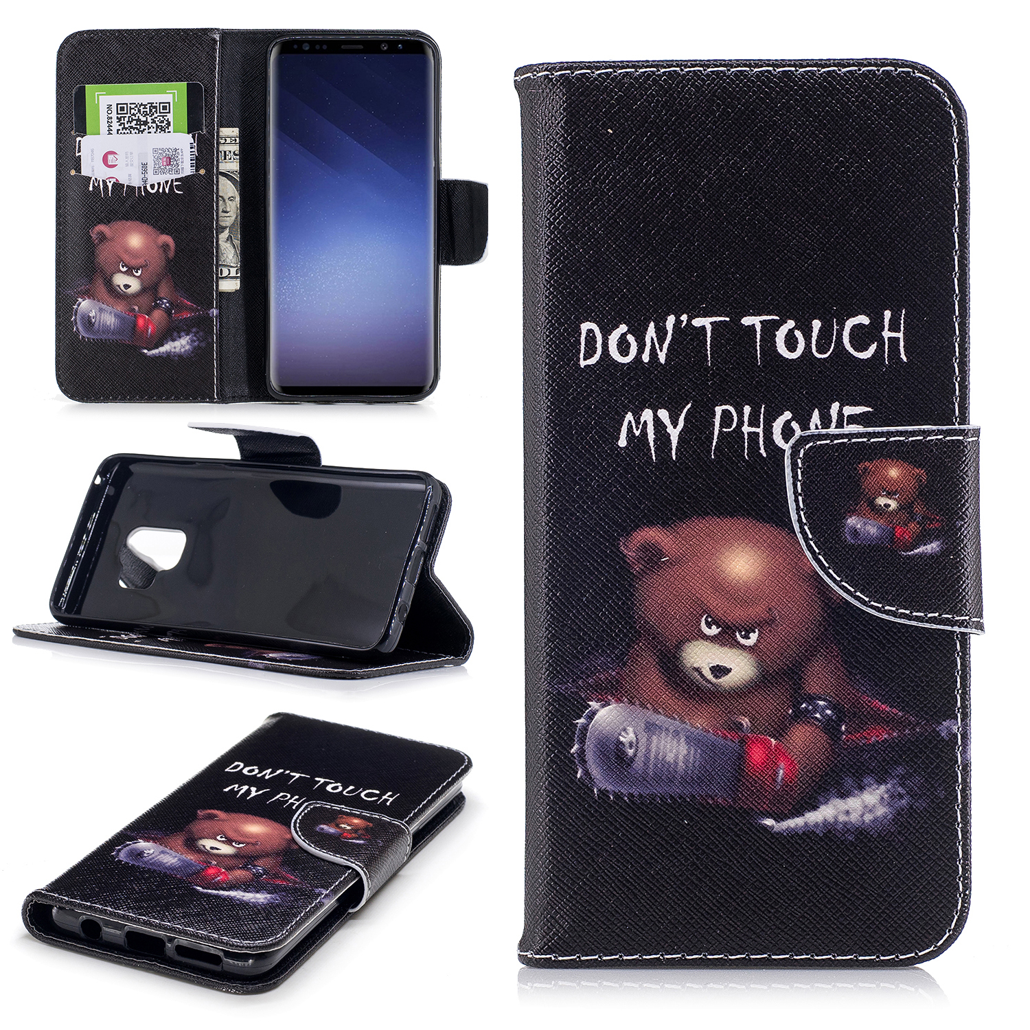 For-Samsung-S7-S8-S9-Plus-Note-8-Patterned-Leather-Card-Slot-Wallet-Case-Cover