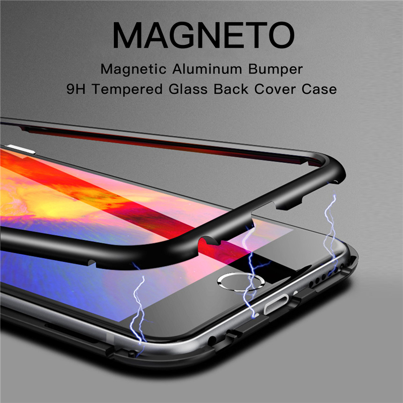 separation shoes 304a4 7b4ef Details about Magnetic Metal Gorilla Tempered Glass Shockproof Case Cover  For iPhone X 8 Plus