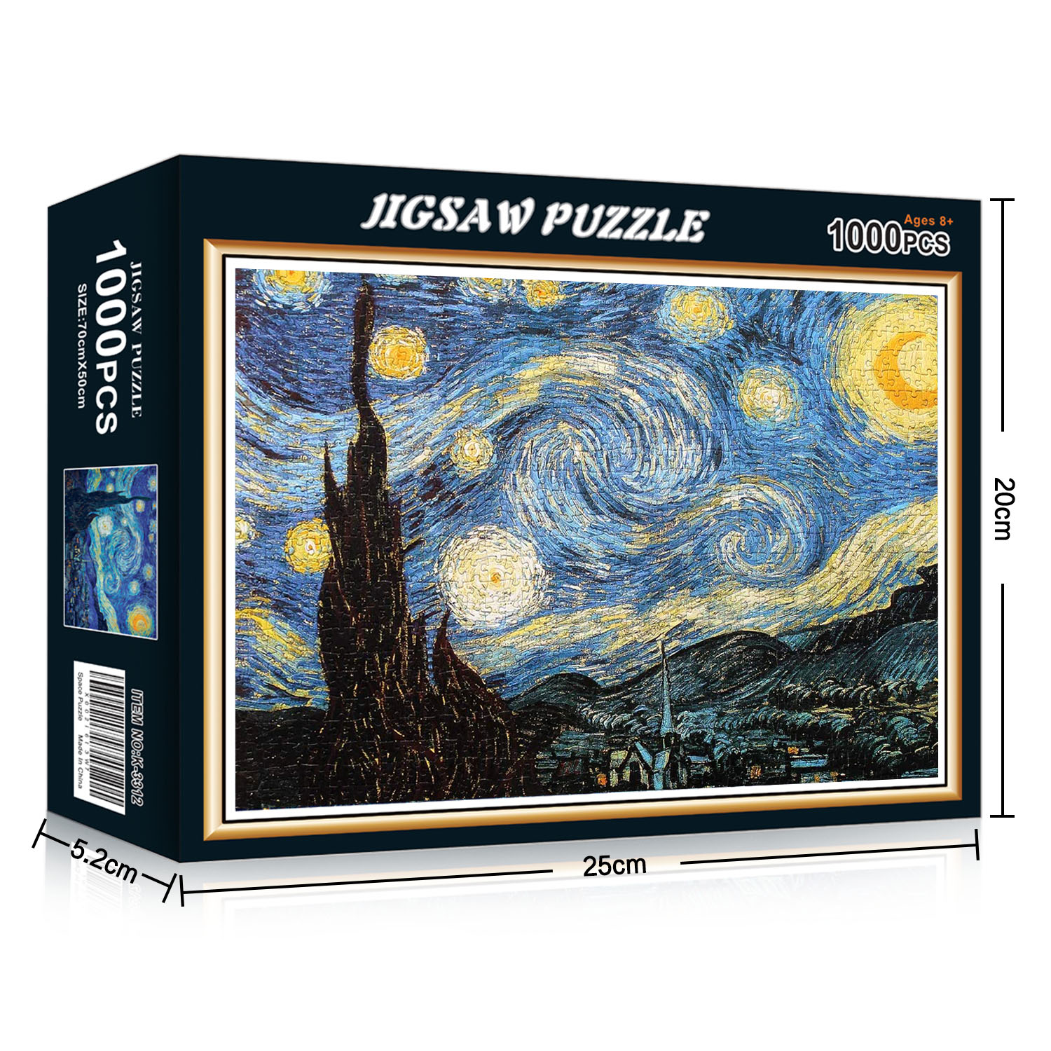 1000 Pieces The Starry Night Jigsaw Puzzles For Kids Adult ...
